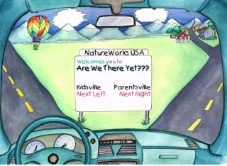 NatureWorks USA, Oblio Productions, Welcomes you to Are We There Yet??? a CD to keep kids entertained in the car.